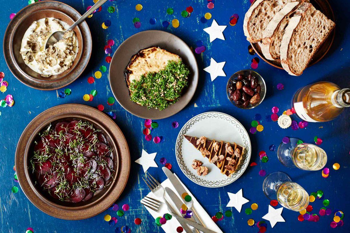 Manfreds økologiske vegetar nytårstakeaway, takeaway til nytår til afhentning på Nørrebro nytårsaften.